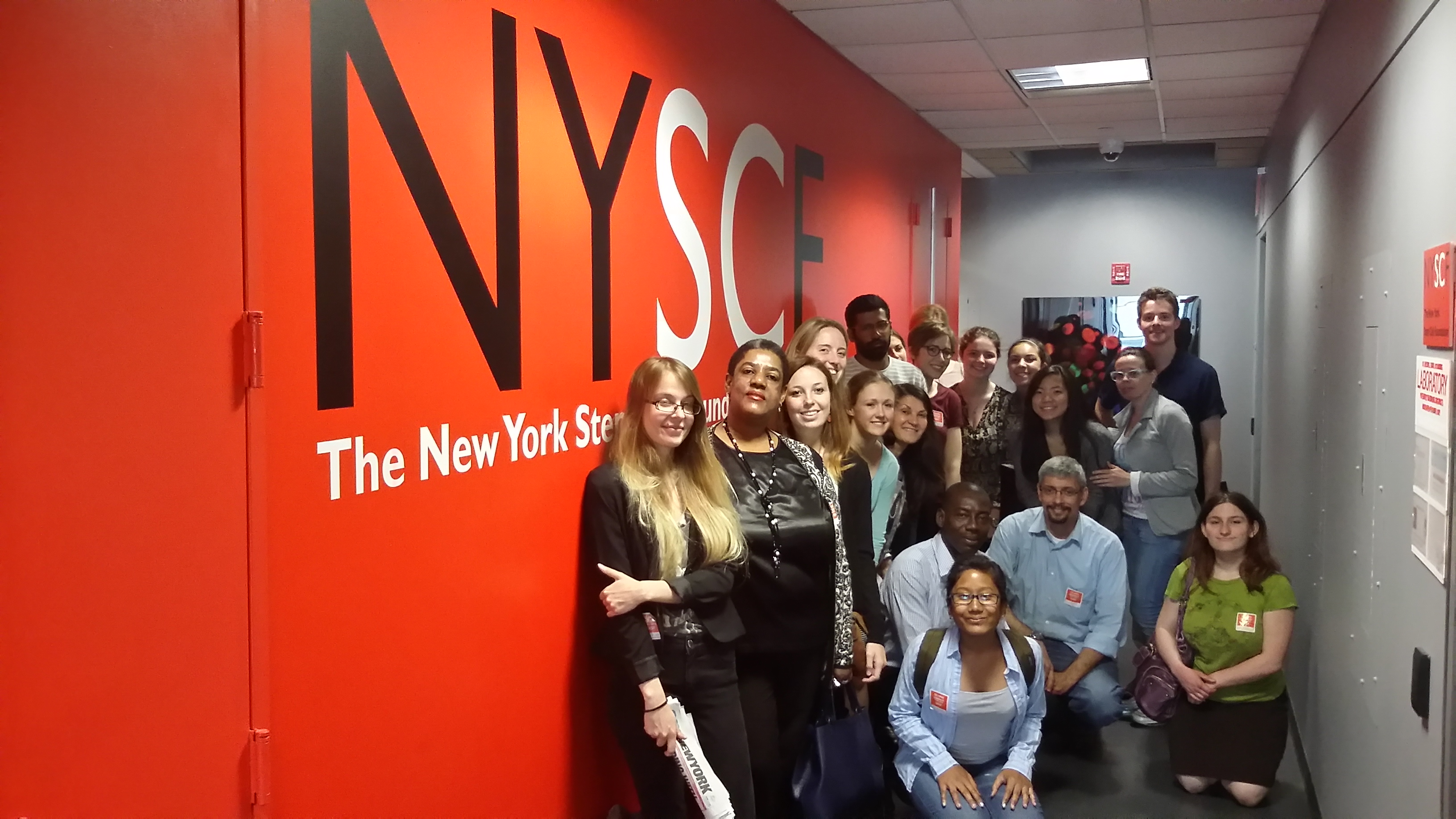 Summer school students visit The New York Stem Cell Foundation (NYSCF) for their first field trip during the Bioethics Summer School.