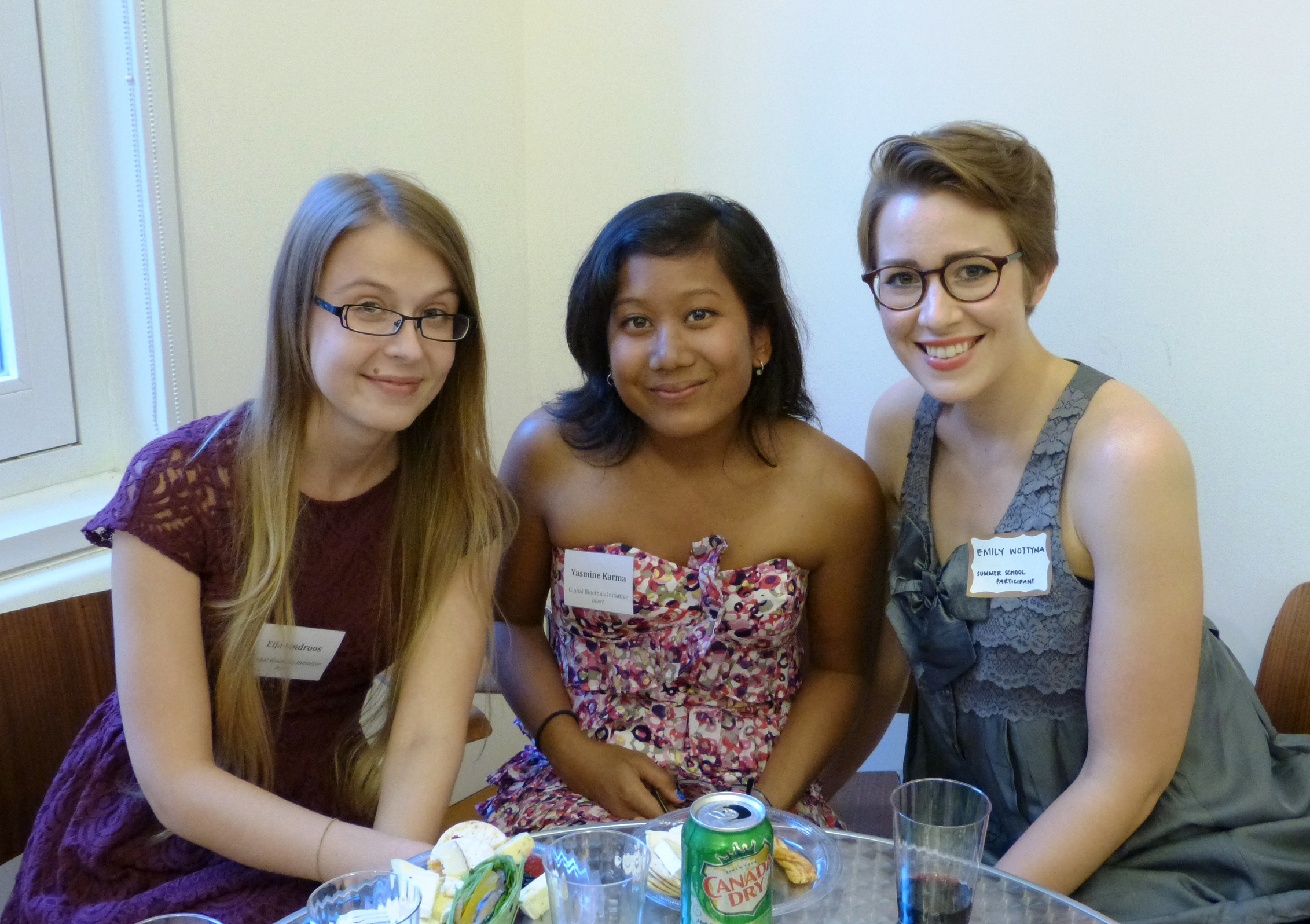 From Left to Right: GBI Summer Intern Eija Lindroos, GBI Summer Intern and Summer School student Yasmine Karma, and GBI Summer School student Emily Wojtyna