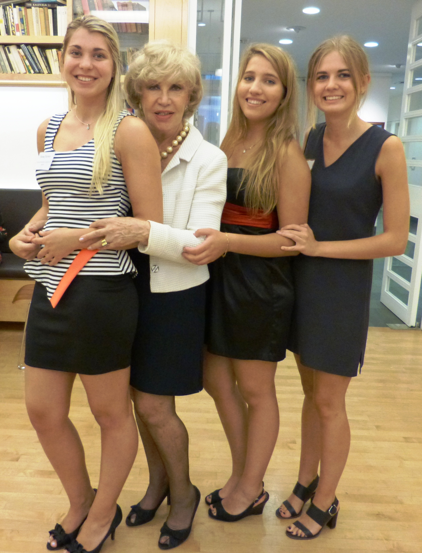 From left to right, intern Stana Turney, her mother Mrs. Turney, and her two friends.