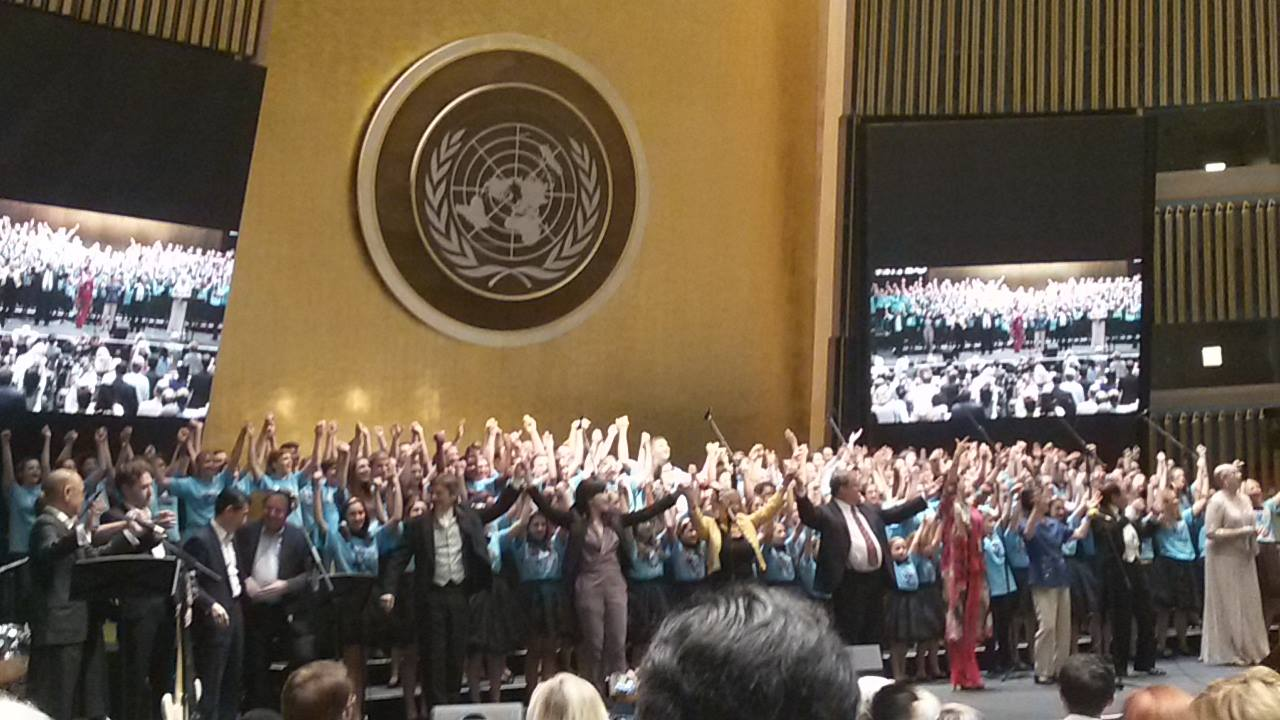 The Rhythms of One World 2015 - International Choral Festival at the United Nations for the 70th anniversary of the signing of the U.N. charter.