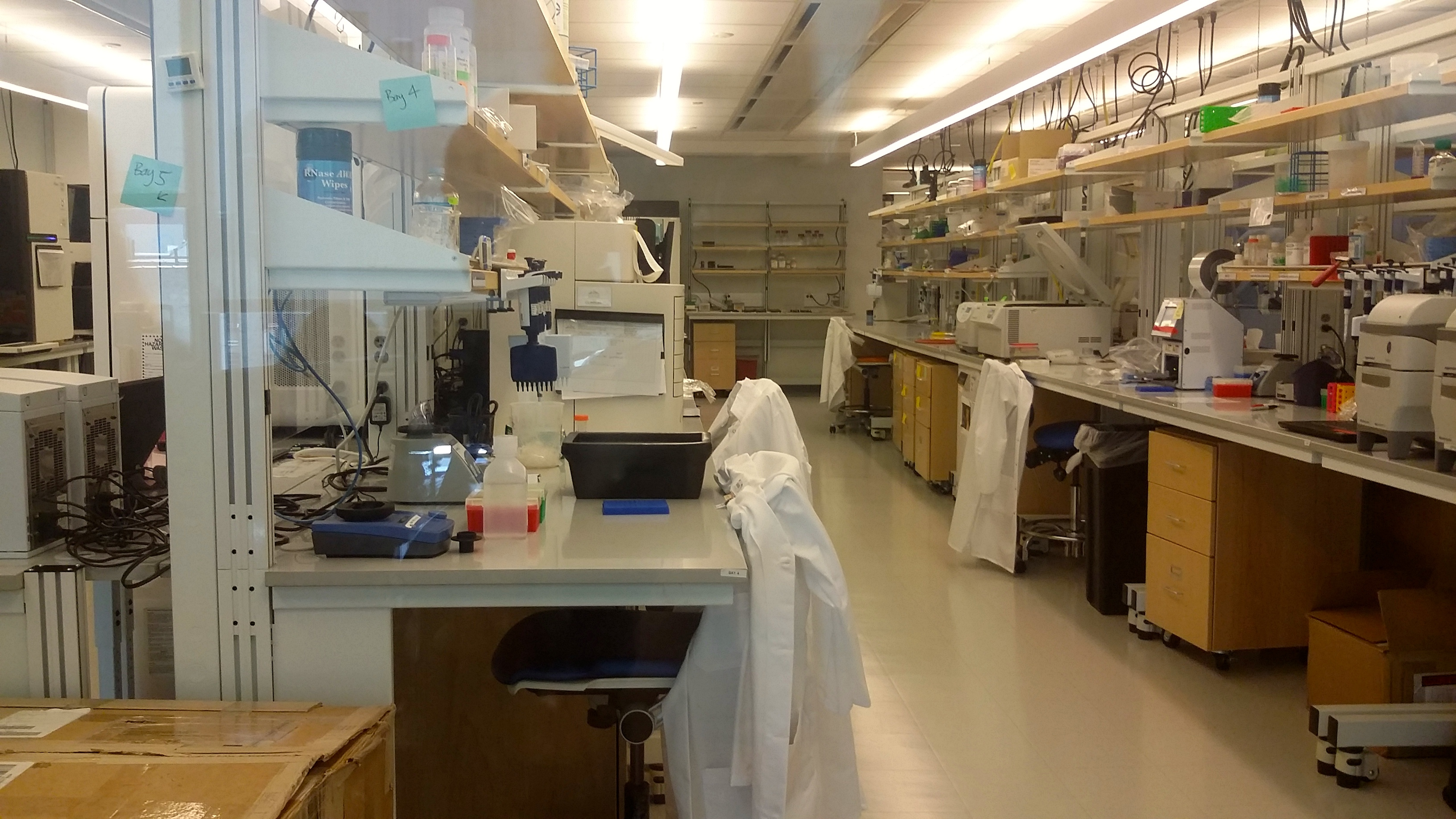 A lab inside the New York Genome Center