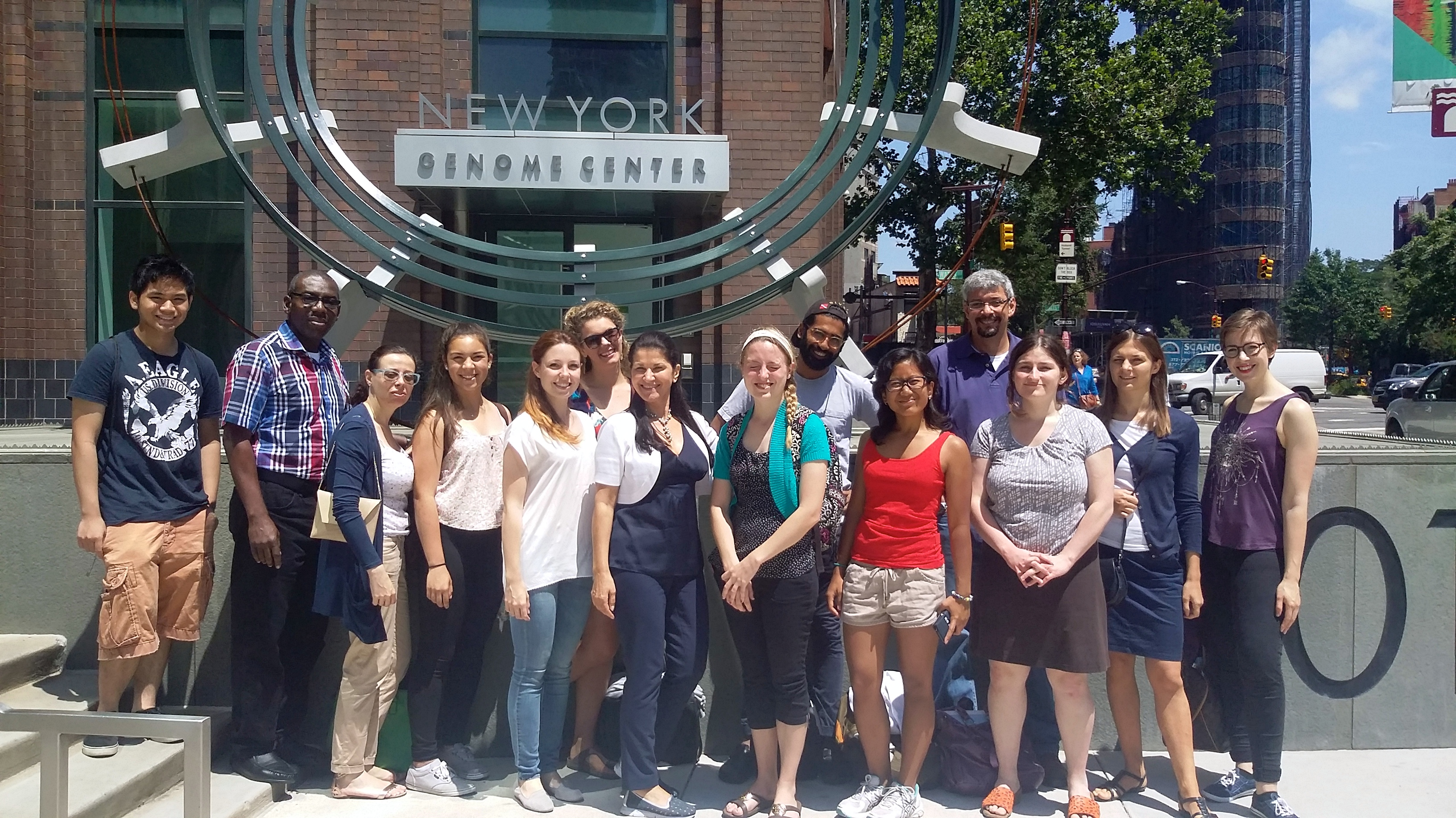 Summer school students during their field trip to the New York Genome Center