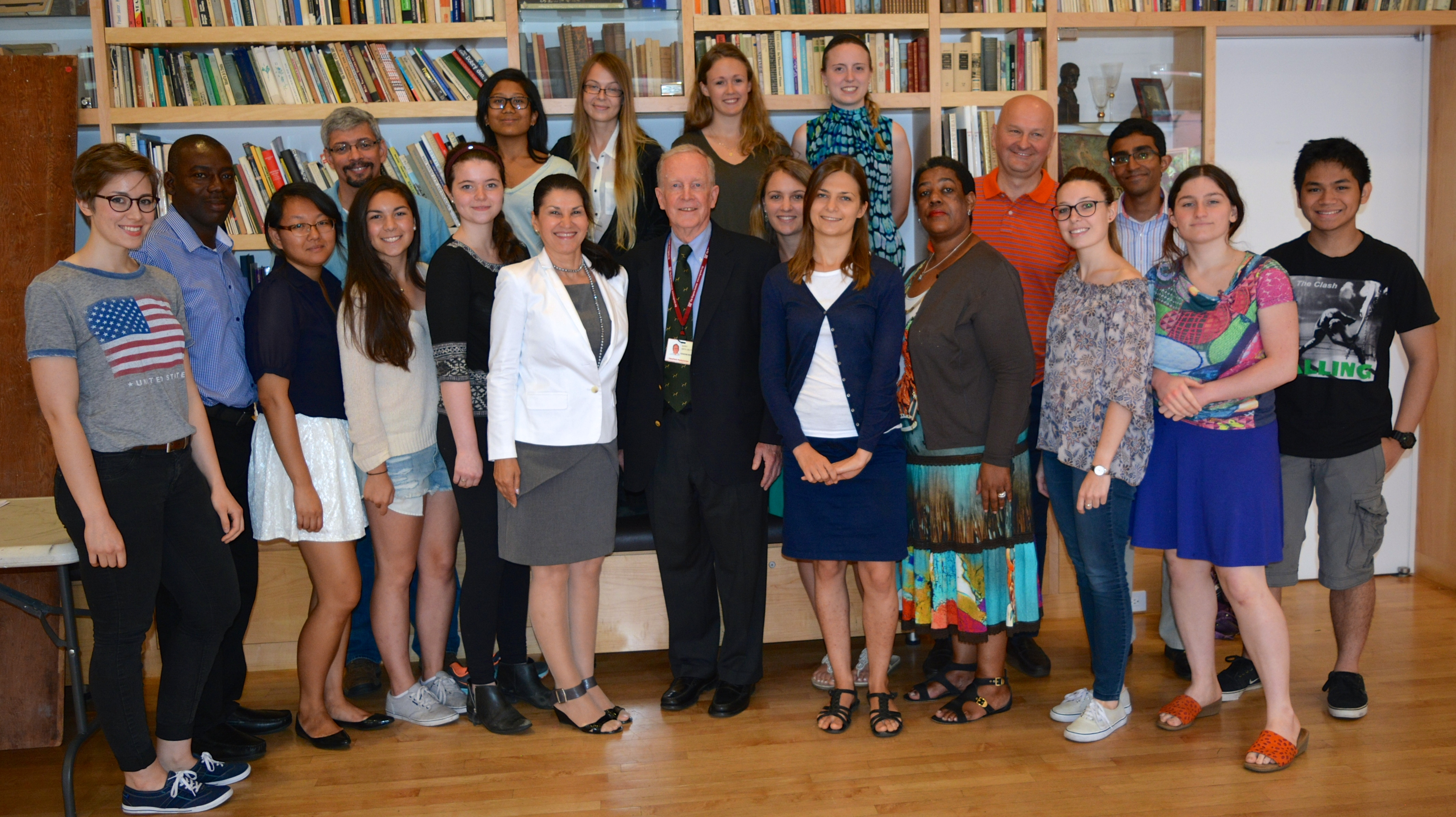Barry Smith, M.D., Professor of Surgery, Weill Cornell Medical College; Ana Lita Ph.D. and summer school participants