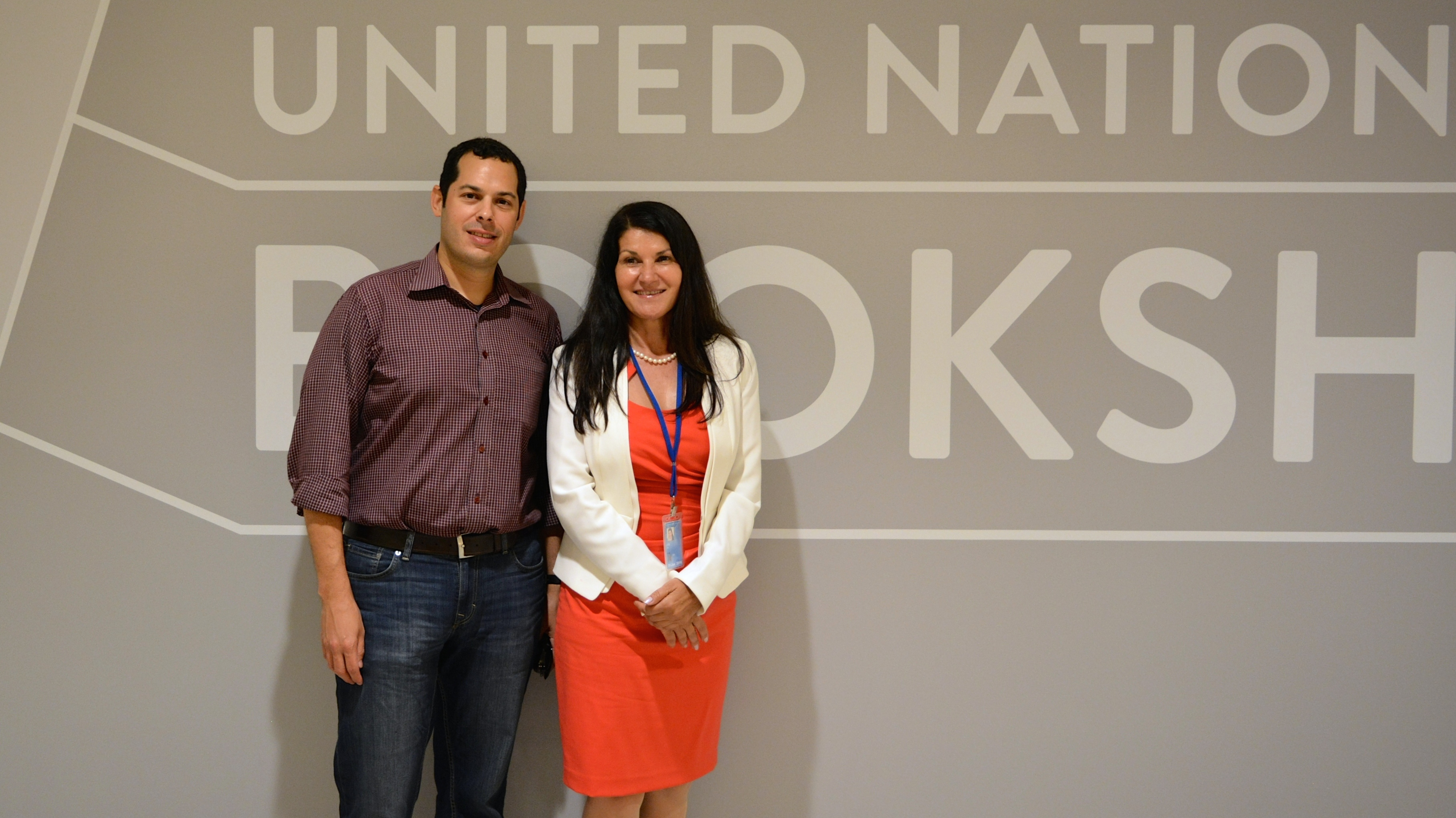 Ana Lita Ph.D., executive director of GBI, and Bruce Gelb M.D., F.A.C.S, GBI board member, at the United Nations
