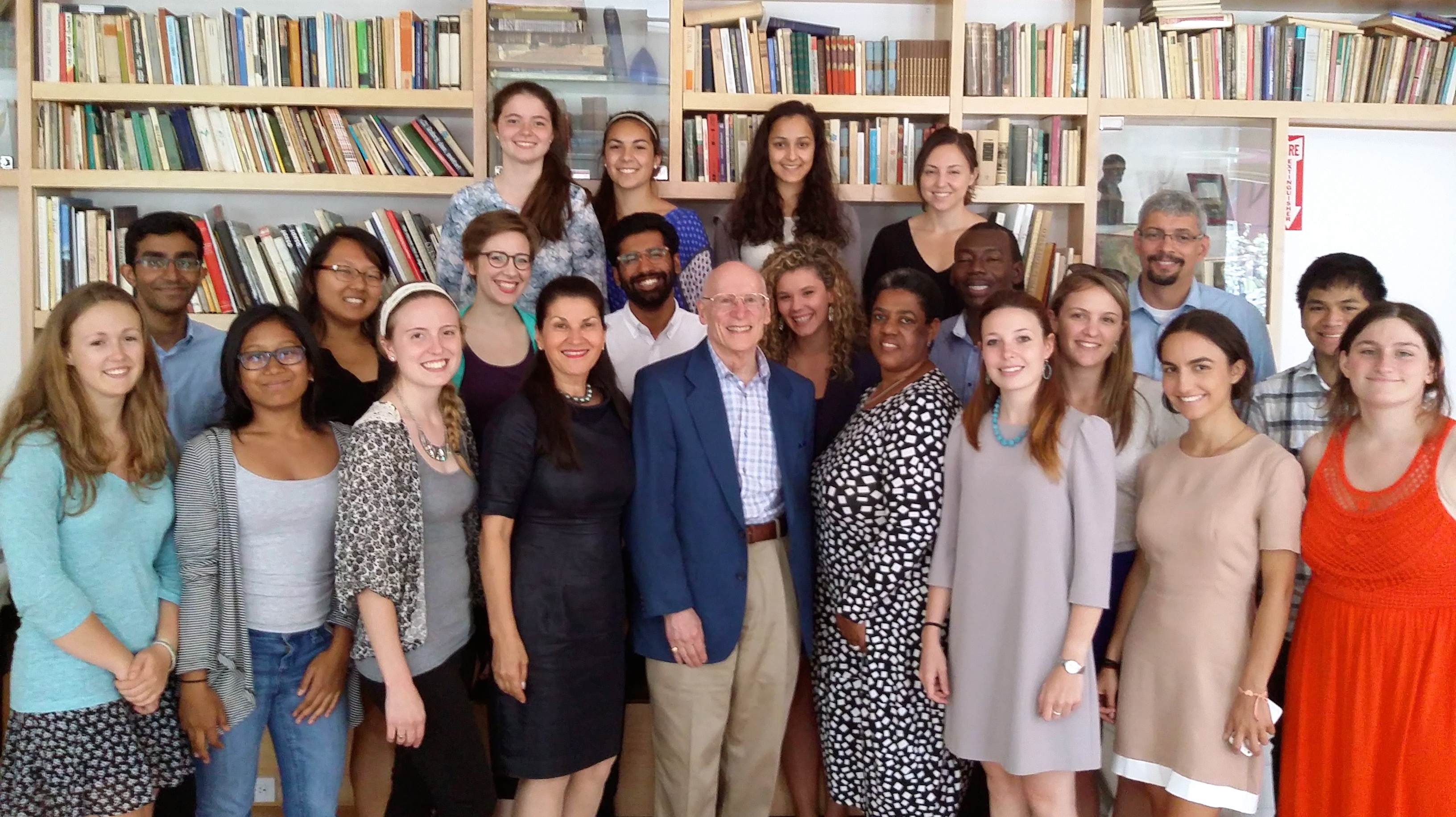 Charles H. Debrovner, M.D., President of Global Bioethics Initiative (center), Ana Lita Ph.D. and the participants of the summer school
