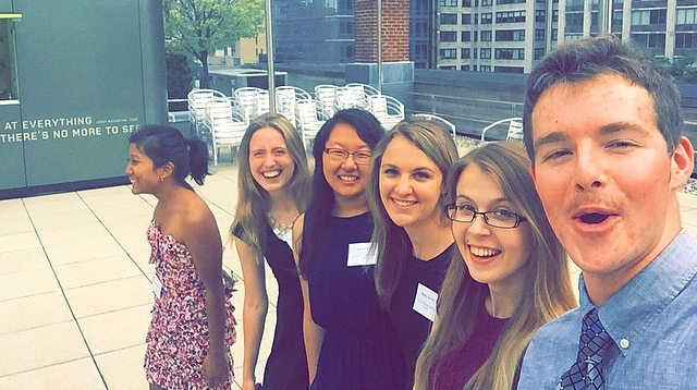 Summer Interns students (from left to right): Yasmine Karma,  Jessica Haushalter, Grace Kim, Remy Servis, Eija Lindroos, Andrew Scherffius