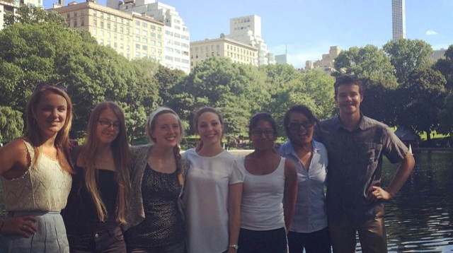 Summer Interns students (from left to right): Remy Servis, Eija Lindroos, Jessica Haushalter, Agata Ferretti, Yasmine Karma, Grace Kim, Andrew Scherffius