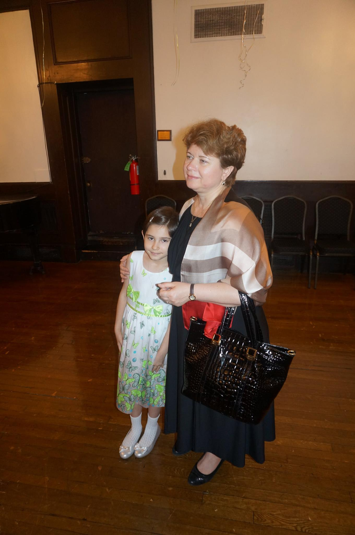 The Consul General of Romania in New York, Dr. Ioana Gabriela Costache and her daughter Carla