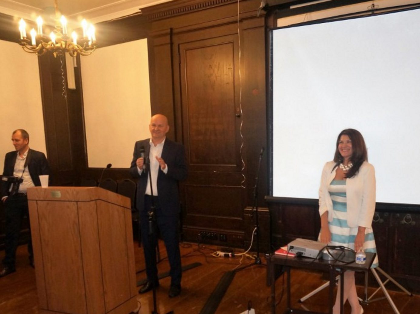 From left to right: Stjepan Orešković Ph.D., Professor of Public Health at the University of Zagreb School of Medicine, Zagreb, Croatia, EU. & Ana Lita Ph.D., Global Bioethics Initiative