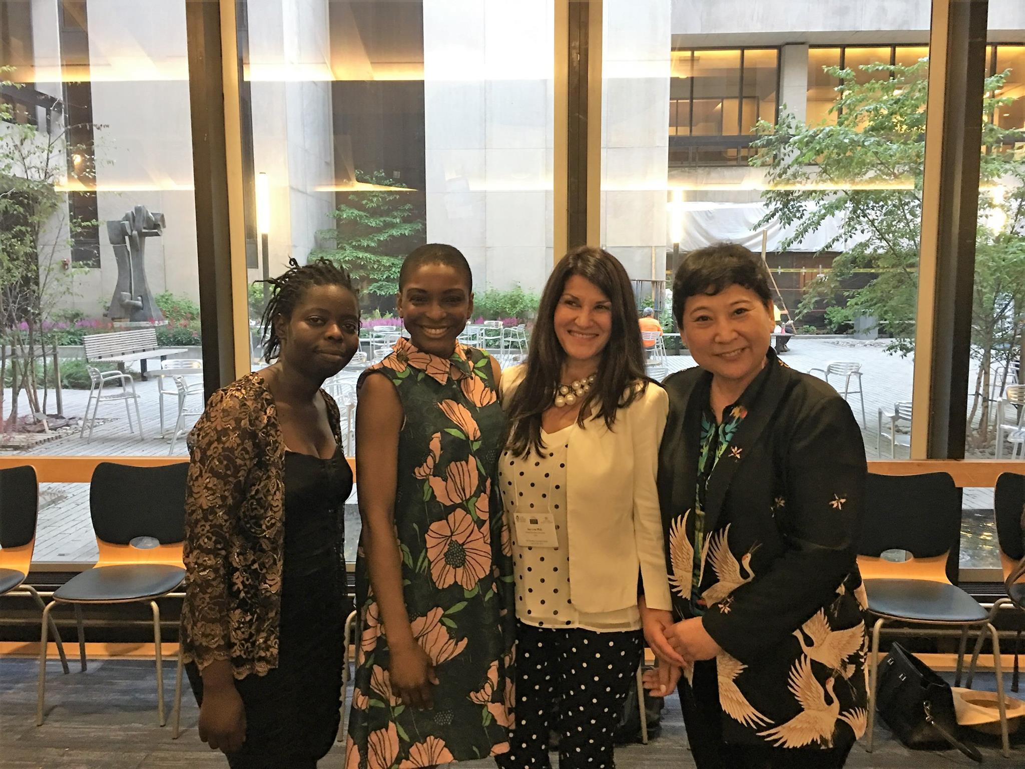 From left to right: Termaine Chizikani, Vivian Gasu, Dr. Ana Lita, Di Xiao, MD