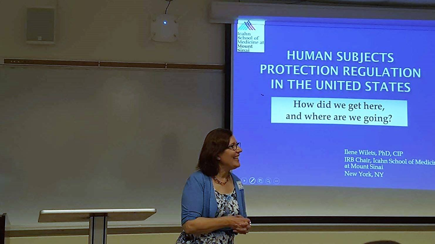 Ilene Wilets, IRB Chair Program for the Protection of Human Subjects, Senior Faculty, Department of Environmental Medicine and Public Health, Icahn School of Medicine at Mount Sinai