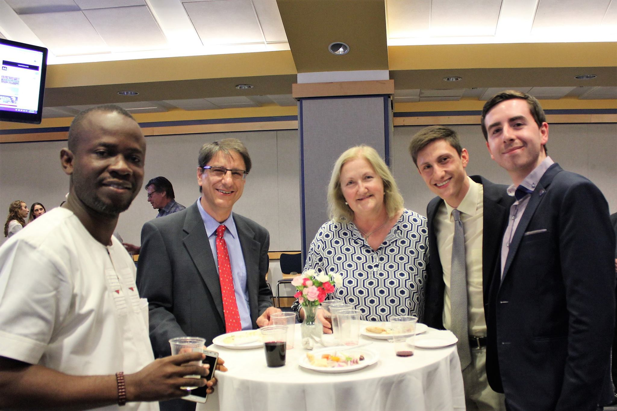 From left to right: Anaeke Chinonye, Mr. Damianos, Fran Damianos, Nicholas Damianos, Rory O'Connor