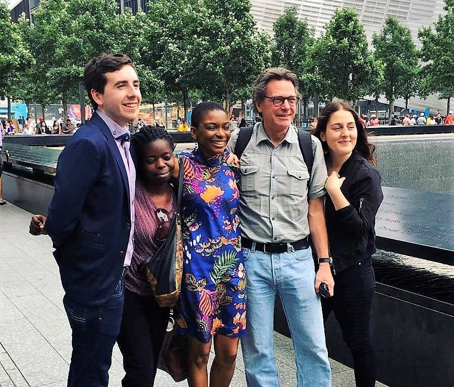 Field trip to the National September 11 Memorial. From left to right: Rory O'Connor, Termaine Chizikani, Vivian Gasu, Jean-Jaques Bise, Angelica Dimoulias