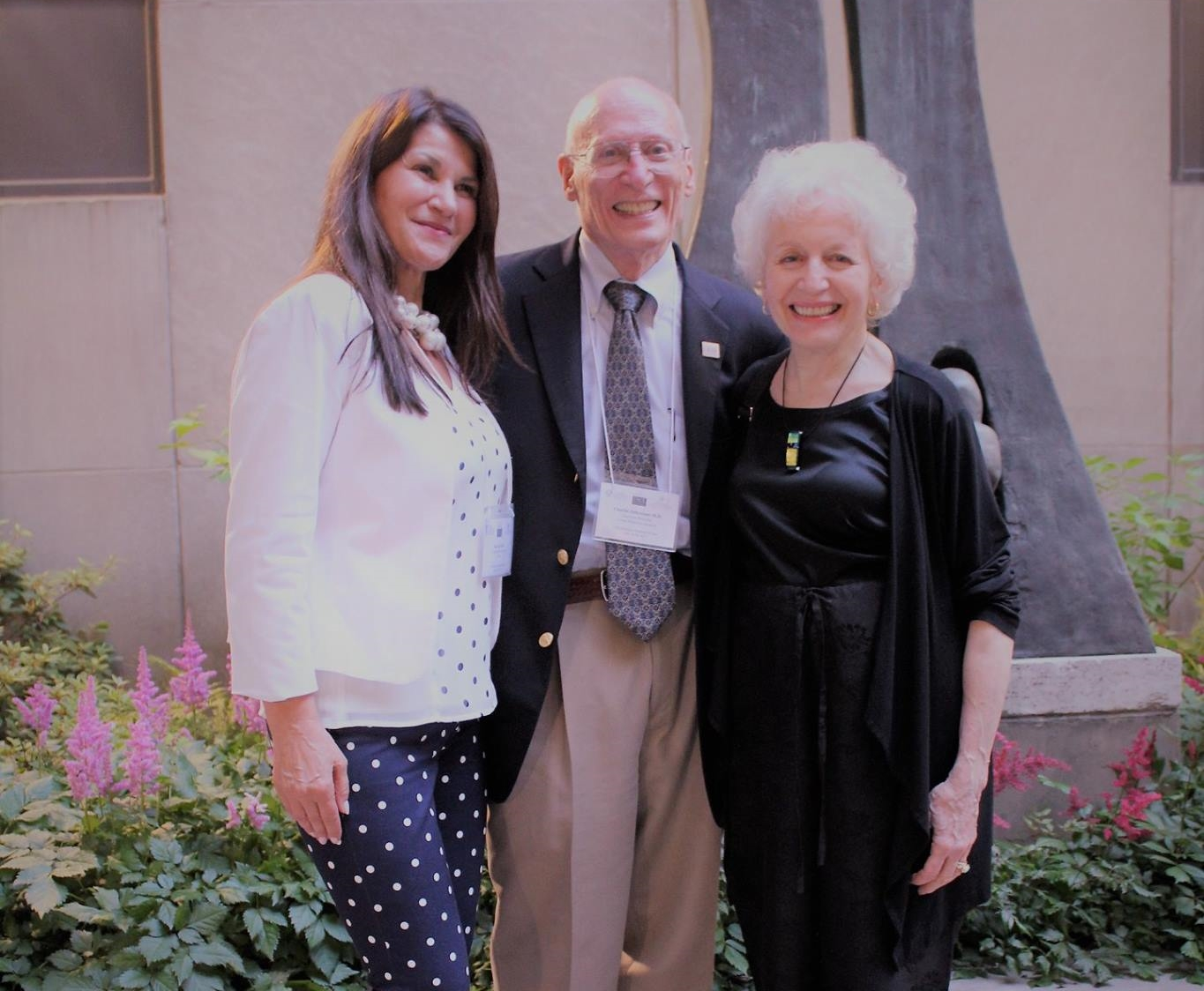 From left to right: Dr. Ana Lita, Dr. Charles Debrovner and Patricia Debrovner