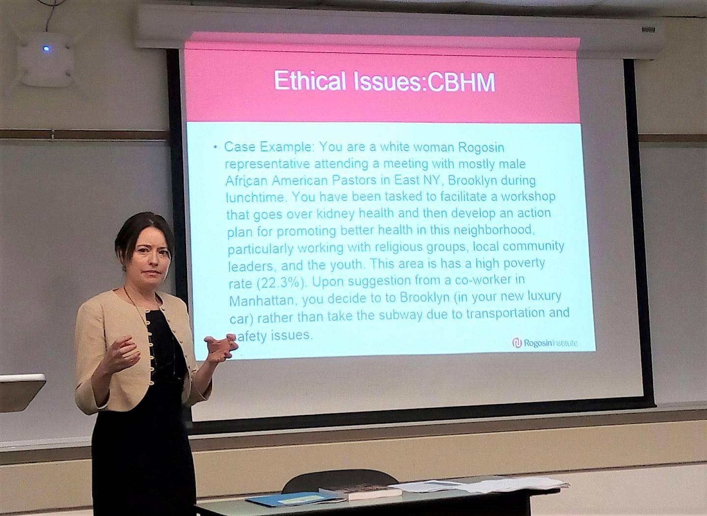 """Pam Hoyt-Hudson talking about """"Ethical Issues from the Global Problem Solving for Better Health Program"""""""