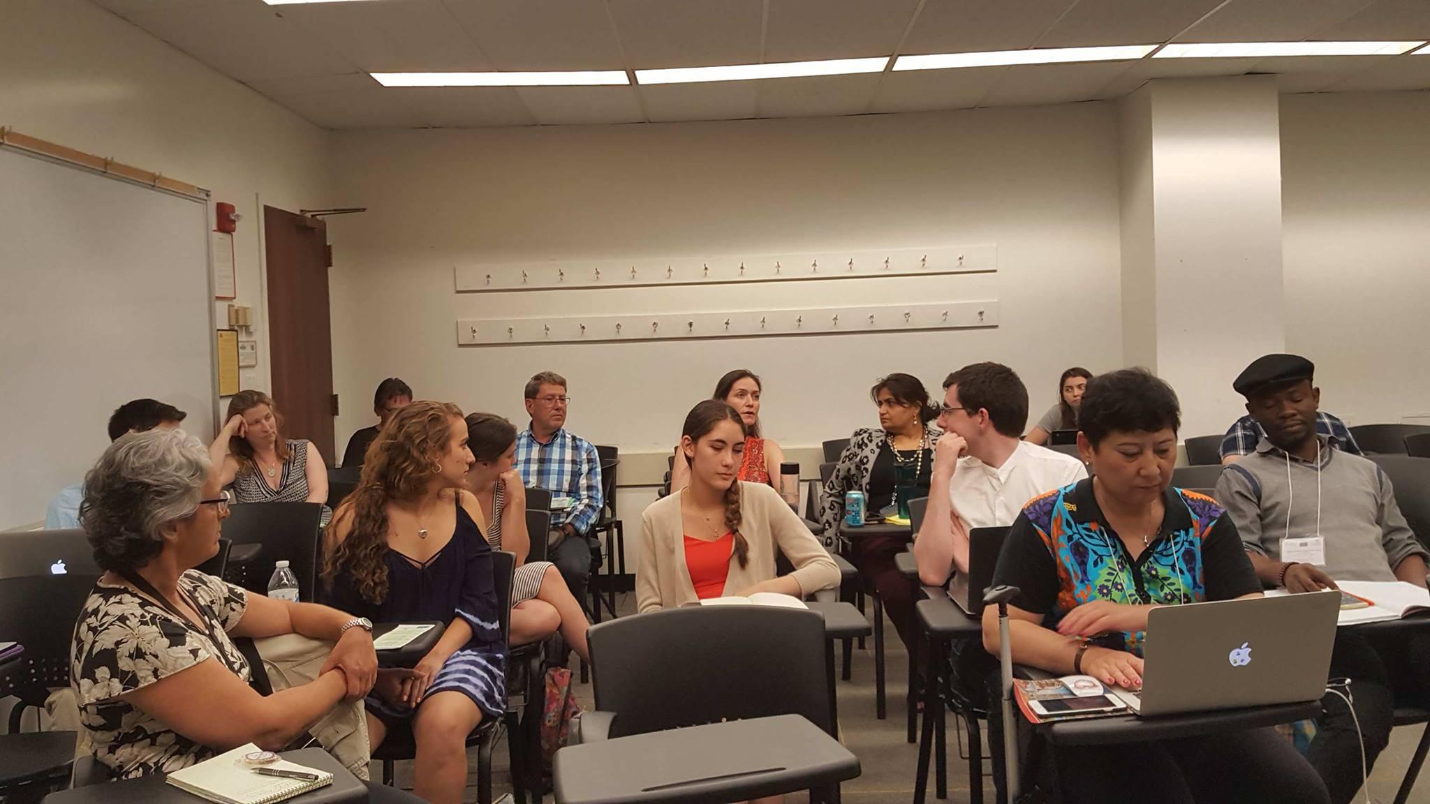 Participants discussing case studies